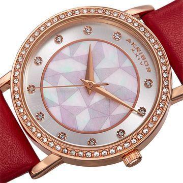 Akribos XXIV Womens Red Strap Watch-A-791rd