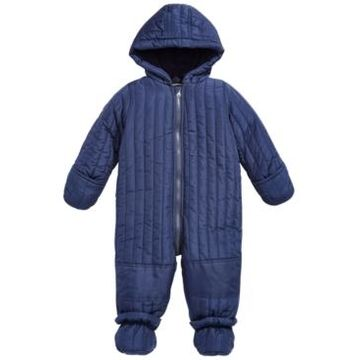First Impressions Baby Boys Quilted Detachable Foot Snowsuit, Created for Macy's