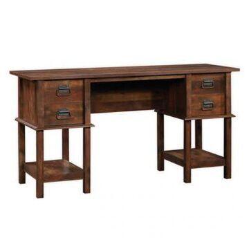 Sauder Viabella Wooden Office Desk in Cherry