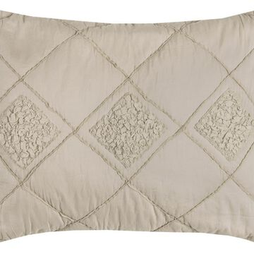Rizzy Home Rizzy Home Eva Standard Sham, Dusty Rose Textured Diamond in Pink   QLTBQ4196RQ002026