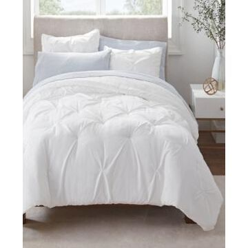 Serta Simply Clean Antimicrobial Pleated Queen Bed in a Bag Set, 7 Piece Bedding