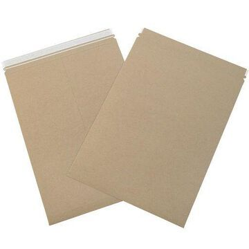 ''Box Partners Utility Flat Mailers 12 1/2'''' x 18'''' Kraft 200/Case RMU1218K''