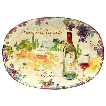 Certified International Vino Oval Platter