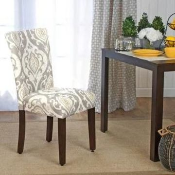 HomePop Classic Parsons Dining Chair - Suri Brown (Set of 2) (Multi)
