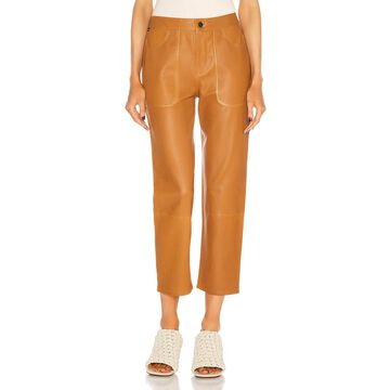 Citizens of Humanity Emma Leather Patch Pocket Pant in Golden Glow | FWRD