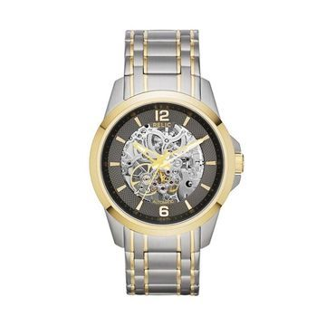 Relic Men's Two Tone Stainless Steel Automatic Skeleton Watch