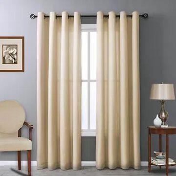 Commonwealth Home Fashions Rhapsody 95-Inch Grommet Window Curtain Panel In Mushroom (Single)