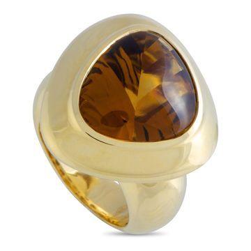 Roberto Coin Capri Yellow Gold Citrine Ring