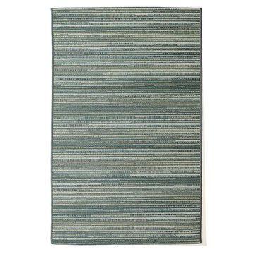 Liora Manne Marina Stripes Indoor Outdoor Rug, Blue, 3X4 Ft