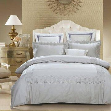 Superior Charlotte 300 Thread Count Cotton Embroidered Duvet Cover Set