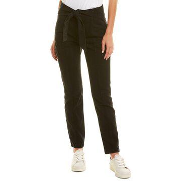Jonathan Simkhai Henley Tie-Waist Noir Straight Leg Jean