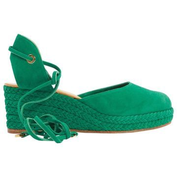 Loro Piana Green Suede Sandals