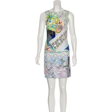 Printed Silk Dress w/ Tags White