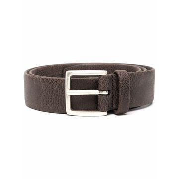 grainy leather belt
