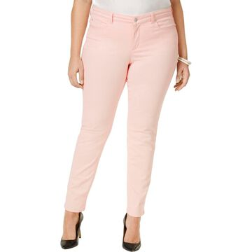 Charter Club Womens Plus Ankle Tummy-Control Skinny Jeans