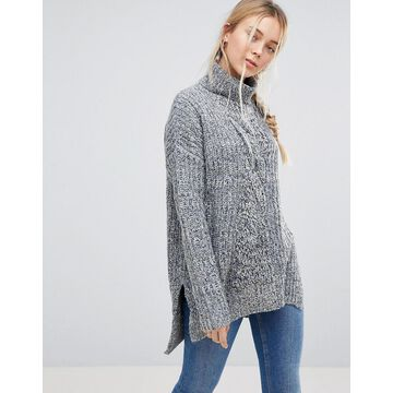 QED London Chunky Knit Roll Neck Sweater