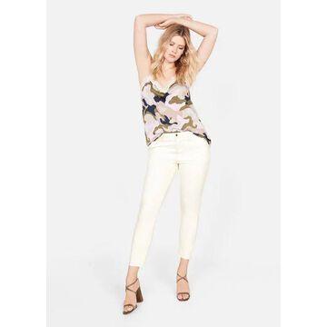 Violeta BY MANGO - Super slim jeans ecru - 14 - Plus sizes