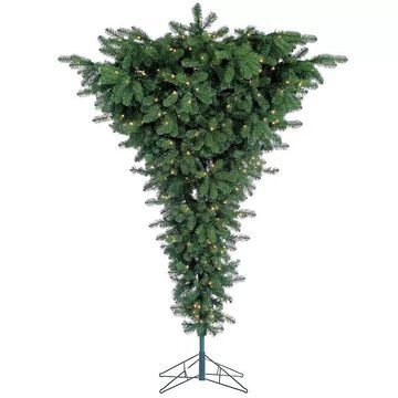 Sterling 7.5' Green Upside Down Floor Artificial Christmas Tree, Multicolor