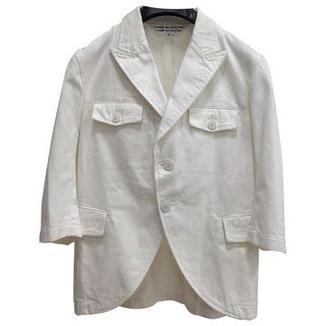 Comme Des Garcons White Denim - Jeans Jackets