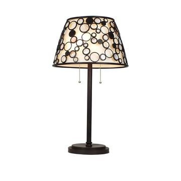 Quoizel Fairgate 27.75-in Bronze Table Lamp with Fabric Shade