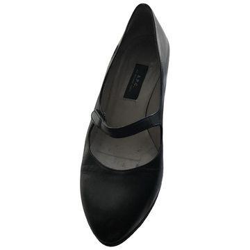 Apc \N Black Leather Heels