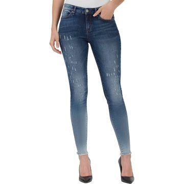William Rast Womens Perfect Denim Faded Skinny Jeans