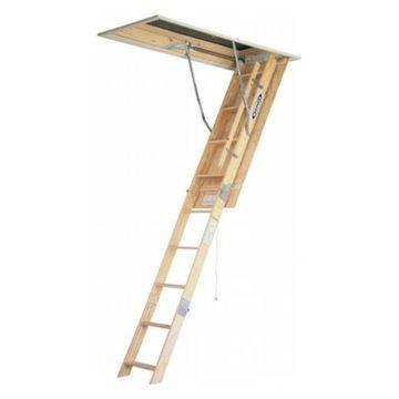 Werner 10' Wood Attic-Master Ladder