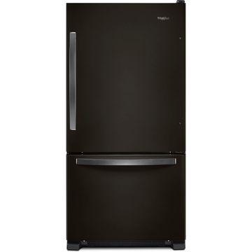 Whirlpool Black Stainless Steel Bottom Freezer Refrigerator