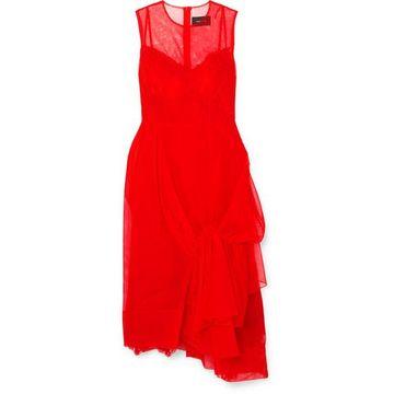 Simone Rocha - Asymmetric Gathered Tulle Midi Dress