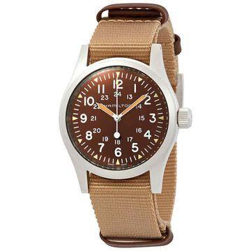 Hamilton Khaki Field Mechanical Brown Dial Men's Watch H69429901