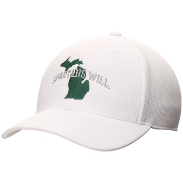 Michigan State Spartans Top of the World Spartans Will Booster Flex Hat - White