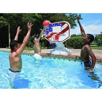 Poolmaster USA Competition Poolside Basketball Outdoor Swimming Pool Game & Ball