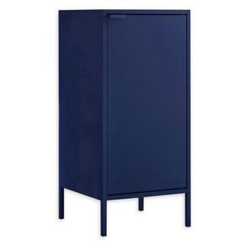 Manhattan Comfort Tall Smart End Table in Blue