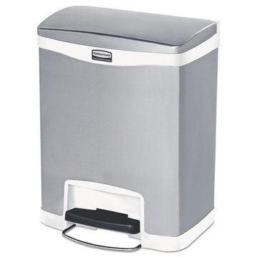 Rubbermaid Slim Jim Stainless Steel Step-On Container