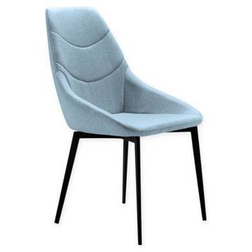 Armen Living Castle Dining Chair in Blue