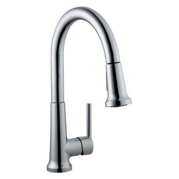 Design House 525725 Single Handle Kitchen Faucet with Pullout Spray