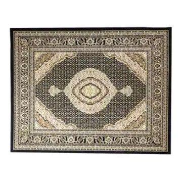 Linon Persian Treasures Mahi Tabriz Oriental Polypropylene Area Rug (8' x 10' - Black/Cream)