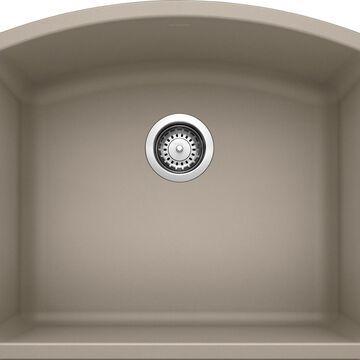 BLANCO Diamond Undermount 24-in x 20.8125-in Truffle (Brown) Single Bowl Kitchen Sink   441281