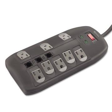 Innovera Surge Protector, 8 Outlets, 6 ft Cord, 2160 Joules, Black