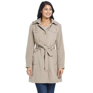 Women's Gallery Hooded Rain Trench Coat