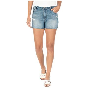 KUT from the Kloth Gidget High-Rise Shorts in Accuracy/Medium Base Wash (Accuracy/Medium Base Wash) Women's Shorts
