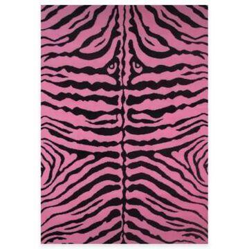 Fun Rugs Zebra-Print 1-Foot 7-Inch X 2-Foot 5-Inch Rug In Pink