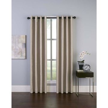 Chf Malta 144-In Sand Polyester Room Darkening Thermal Lined Single Curtain Panel 1Q806104sd