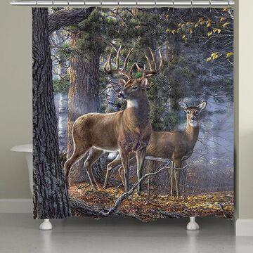 Laural Home Majestic Deer II Shower Curtain