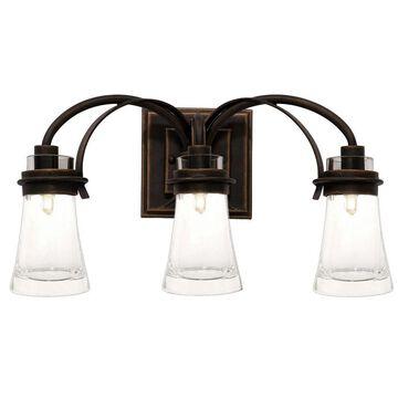 """Kalco Dover 3-Light 20"""" Bathroom Vanity Light in Antique Copper"""