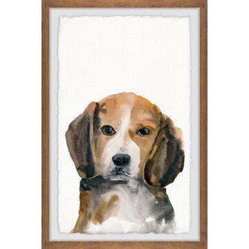 Parvez Taj Little Brown Puppy Framed Wall Art