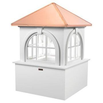 Good Directions Smithsonian Arlington Vinyl Cupola with Copper Roof - 26