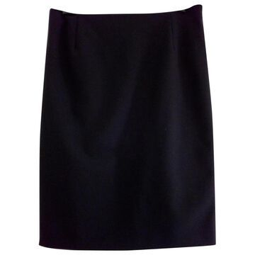 Prada Black Wool Skirts
