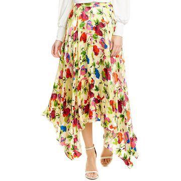 Saloni Freja Silk Maxi Skirt