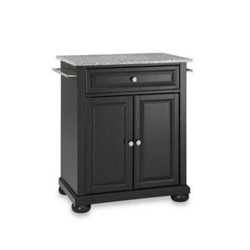 Crosley Alexandria Granite Top Portable Kitchen Island in Black